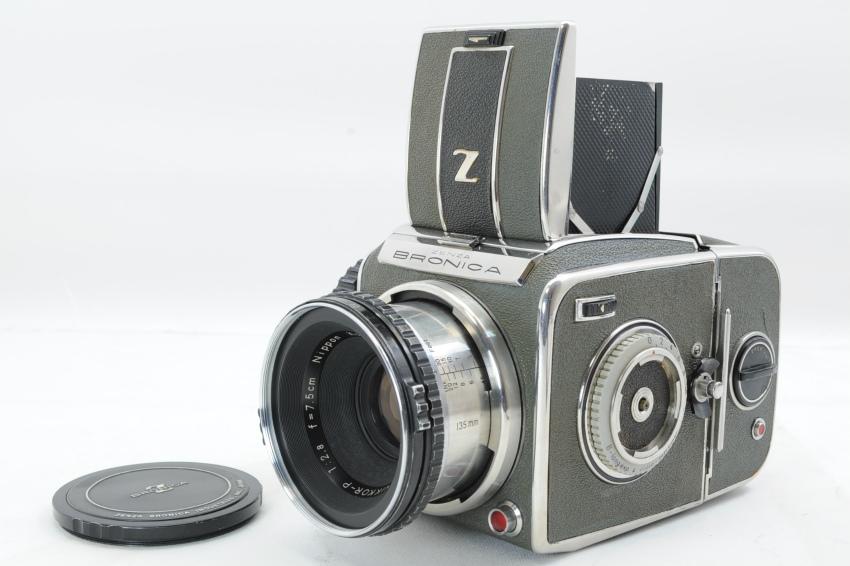 ブロニカ BRONICA D NIKKOR-P 7.5cm F2.8 ゼンザブロニカD 66判カメラ